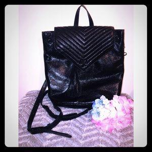 Victoria's Secret Mini Backpack Black w/ Tassel